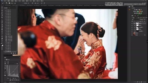 快速精修曝光不足中式婚礼图片的PS技巧