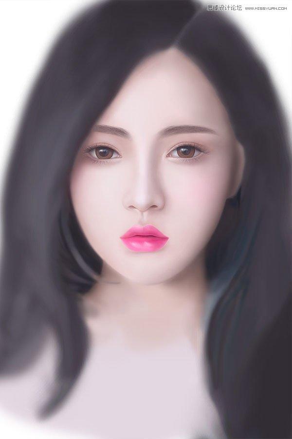 鼠绘漂亮长发美女头像照片的PS教程