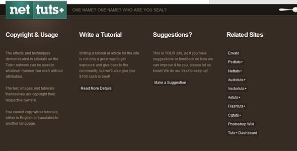 国外网站Wrdpress的精美页底设计欣赏