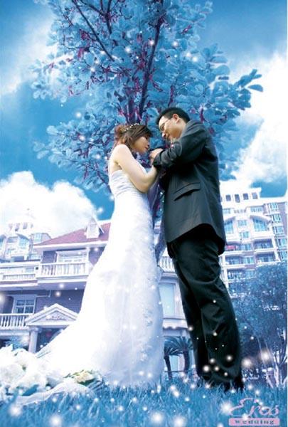 u乐现金网注册浪漫婚纱照片效果的PS教程