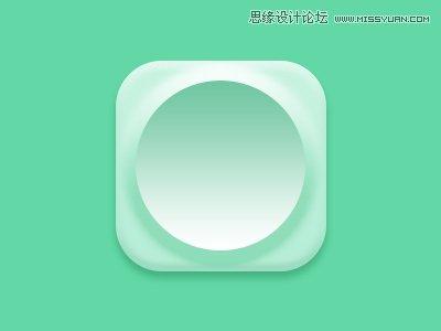 绘制绿色主题风格时钟APP图标的PS教程