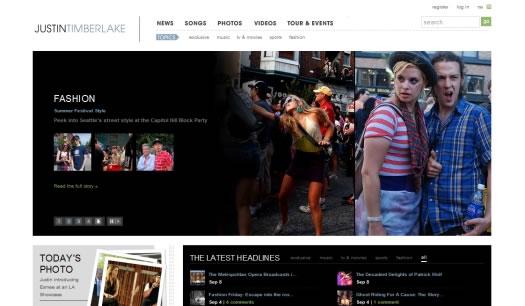 乐队和歌星网站设计欣赏