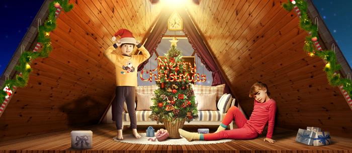 制作圣诞节童装海报图片的PS教程