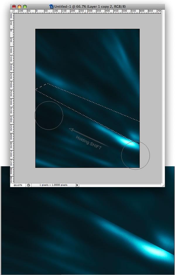 制作蓝色光影海报图片效果的PS教程