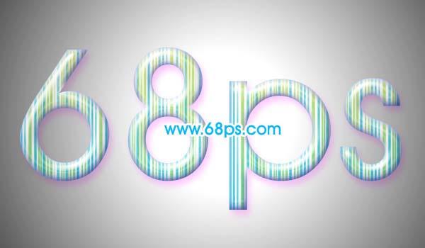 制作彩色线条文字效果的PS教程