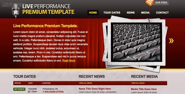 国外网站模板设计大赛十佳作品