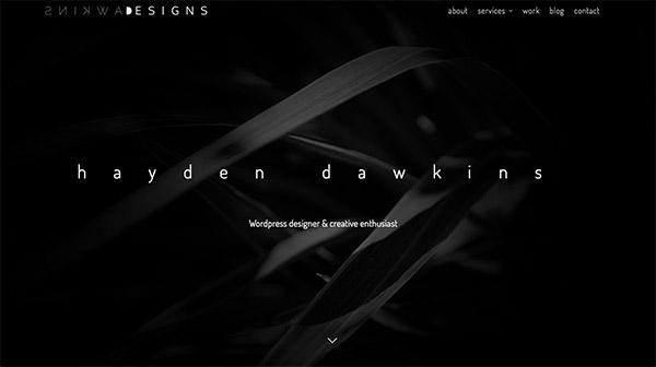 国外黑白灰的低调大气网站设计欣赏,PS教程