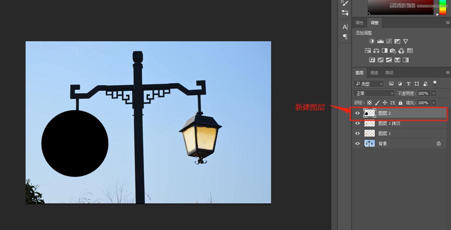 制作点亮路灯图片逼真效果的PS技巧
