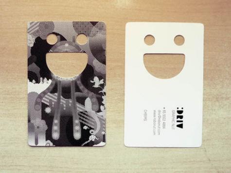 23款创意异型的企业名片设计欣赏