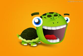 鼠绘卖萌卡通大眼乌龟图片的PS教程