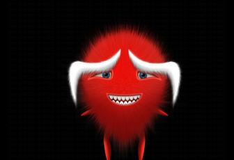 鼠绘红色卡通毛绒娃娃图片的PS教程