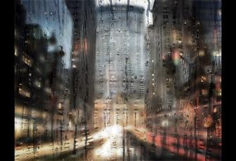 制作下雨天玻璃水雾效果图片的PS教程