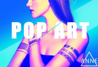制作绚丽波普风格人物海报图片的PS技巧